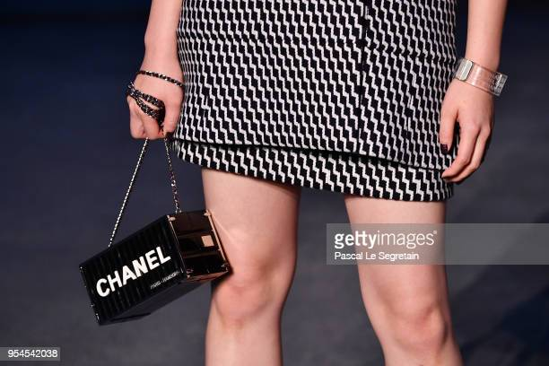 Nana Komatsubag detail attends the Chanel Cruise 2018/2019 Collection at Le Grand Palais on May 3 2018 in Paris France