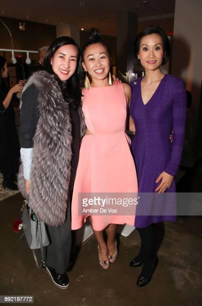 Nana Lee Niki Cheng and Ida Liu attend Niki Shaokao Cheng's Annual Holiday Party at Calligaris SoHo on December 13 2017 in New York City