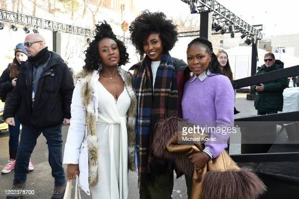 Nana Mensah Jayme Lawson and Zainab Jah attend the IMDb Studio at Acura Festival Village during Sundance Film Festival on January 25 2020 in Park...