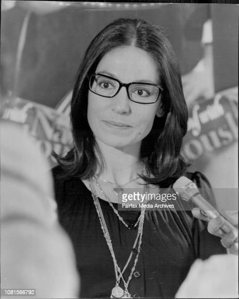 Nana Moukouri at the Hotel todayGreek singer Nana Mouskouri held a press conference at the Boulevarde Hotel today July 05 1976