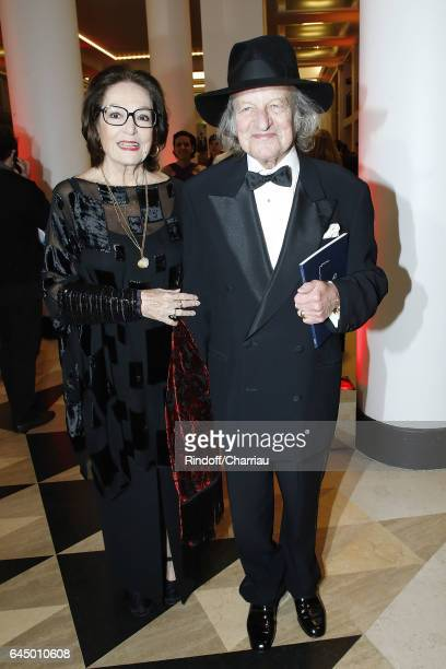 Nana Mouskouri and Andre Chapelle attend Cesar Film Award 2017 at Salle Pleyel on February 24 2017 in Paris France