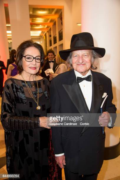 Nana Mouskouri and Andre Chapelle attends Cesar Film Awards 2017 at Salle Pleyel on February 24 2017 in Paris France