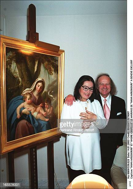 Nana Mouskouri and 'Andre Chapelle' the wedding of 'Nana Mouskouri' in Geneva painting