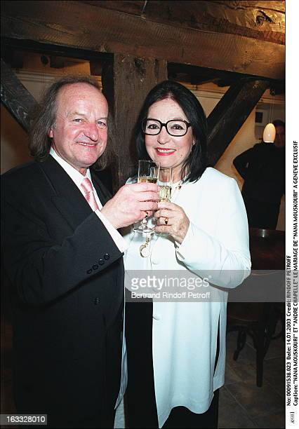 Nana Mouskouri and 'Andre Chapelle' the wedding of 'Nana Mouskouri' in Geneva