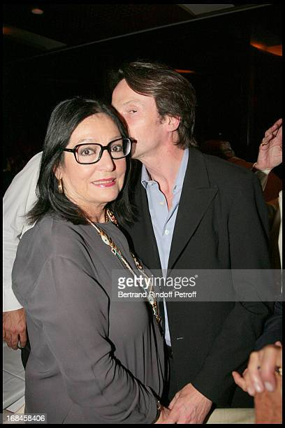 Nana Mouskouri and Bruno Finck attend a dinner followingNana Mouskouri's Farewell Concert At Odeon Herodes Atticus In Athens
