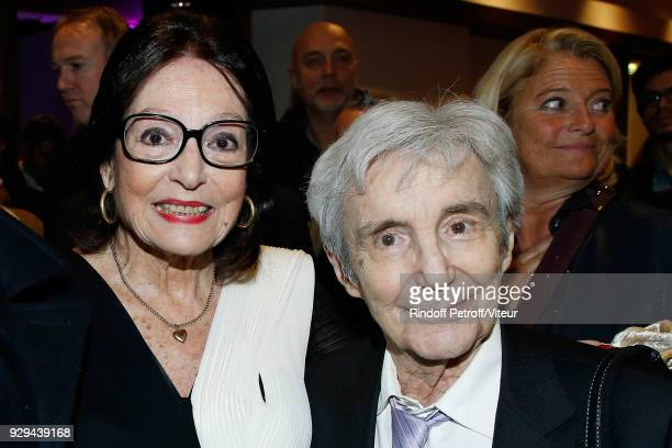 """Nana Mouskouri and Claude Vega attend """"Nana Mouskouri Forever Young Tour 2018"""" at Salle Pleyel on March 8, 2018 in Paris, France."""