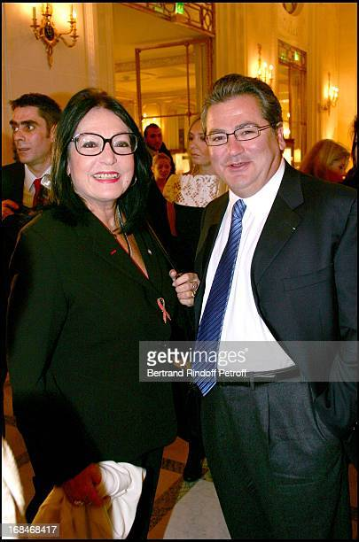 Nana Mouskouri and Dimitri Mavrommatis Lunch at the Meurice hotel in Paris organized by the foundation for Childhood