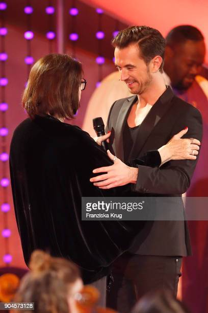 Nana Mouskouri and Florian Silbereisen during the 'Schlagerchampions Das grosse Fest der Besten' TV Show at Velodrom on January 13 2018 in Berlin...