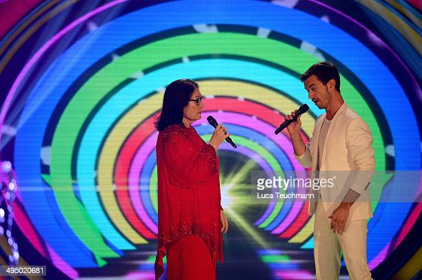 Nana Mouskouri and Florian Silbereisen perform 'Das Sommerfest am See' TVShow on May 31 2014 in Erfurt Germany