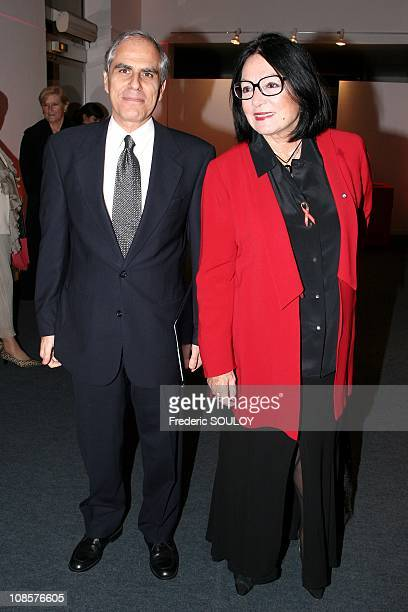 Nana Mouskouri and Greece Ambassador Dimitrios Paraskevopoulos in Paris France on November 15th 2005