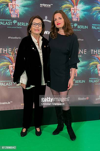 Nana Mouskouri and Helene Mouskouri attend the 'THE ONE Grand Show' World Premiere Dancers at FriedrichstadtPalast on October 6 2016 in Berlin Germany