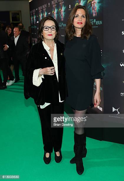 Nana Mouskouri and Helene Petsilas attend 'THE ONE Grand Show' premiere at FriedrichstadtPalast on October 6 2016 in Berlin Germany