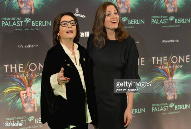 Nana Mouskouri and her daughter Helene Petsilas arrive for the premiere of new show The One at the FriedrichstadtPalast in Berlin Germany 6 October...