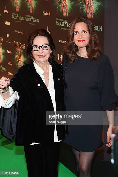 Nana Mouskouri and her daughter Helene Petsilas attend the 'THE ONE Grand Show' premiere at FriedrichstadtPalast on October 6 2016 in Berlin Germany