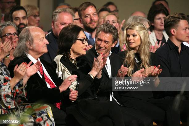 Nana Mouskouri and her husband Andre Chapelle and Peter Maffay and his girlfriend Hendrikje Balsmeyer during the European Culture Awards TAURUS 2018...