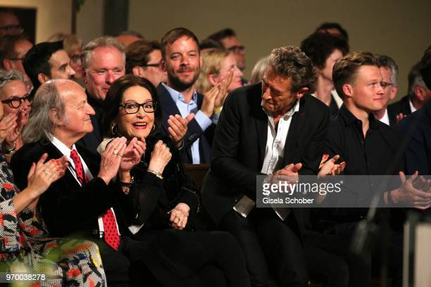 Nana Mouskouri and her husband Andre Chapelle and Peter Maffay during the European Culture Awards TAURUS 2018 at Dresden Frauenkirche on June 8 2018...