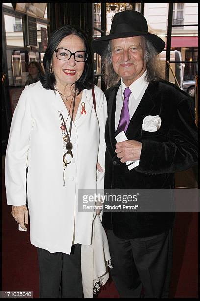 Nana Mouskouri and her husband Andre Chapelle at Homage To JeanClaude Brialy At Theatre Des Bouffes Parisiens