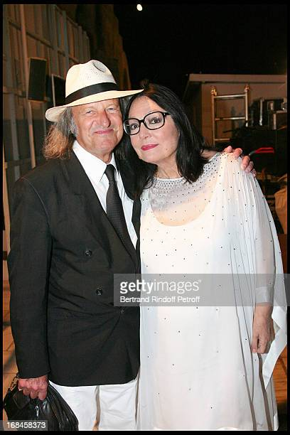 Nana Mouskouri and her husband Andre Chapelle at Nana Mouskouri's Farewell Concert At Odeon Herodes Atticus In Athens.