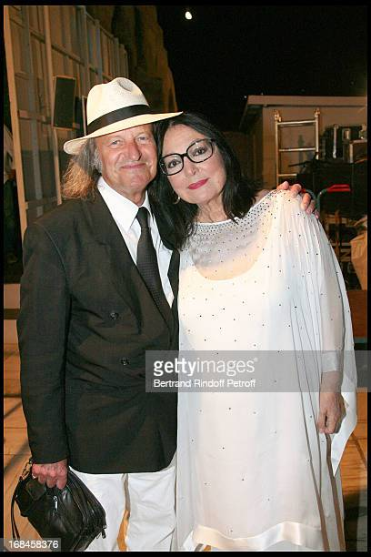 Nana Mouskouri and her husband Andre Chapelle at Nana Mouskouri's Farewell Concert At Odeon Herodes Atticus In Athens