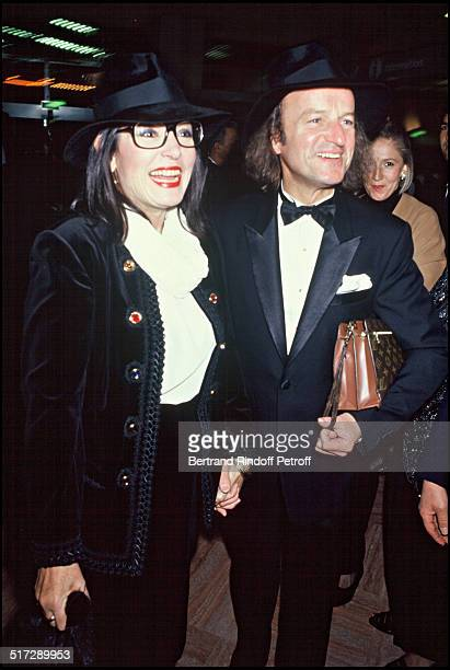 Nana Mouskouri and her husband Andre Chapelle at the party of Charles Aznavour and Liza Minnelli