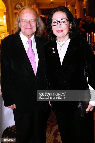 Nana Mouskouri and her husband Andre Chapelle attend the 50th Anniversary party of Stephane Bern called Half a century it's party celebrated at...