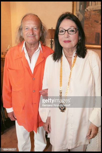 Nana Mouskouri and her husband Andre Chapelle during a ceremony awarding Nana Mouskouri with the Gold Medal of the city of Athens within Nana...