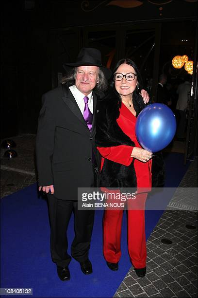 Nana Mouskouri and his husband Andre Chapelle in Paris France on March 26 2007
