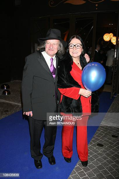 Nana Mouskouri and his husband in Paris France on March 26 2007