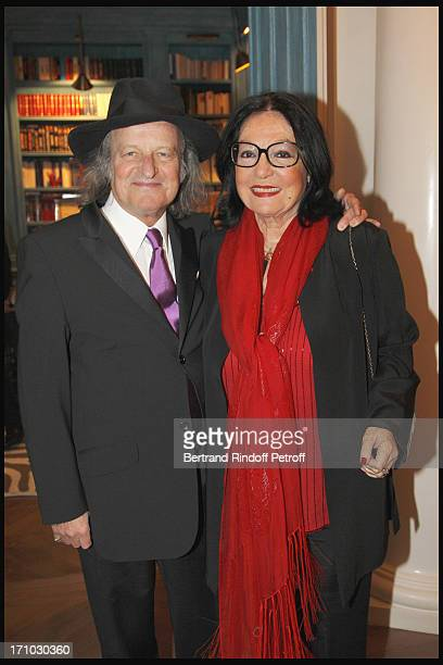 Nana Mouskouri and husband Andre Chapelle at Stephane Bern Is Honoured At His Paris Home With The Title Of Officier De L'Ordre Des Arts Et Lettres By...