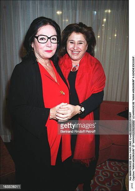 Nana Mouskouri and 'Manuela Palvidou' the wedding of 'Nana Mouskouri' in Geneva