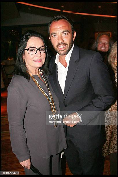 Nana Mouskouri and Nikos Aliagas attend a dinner followingNana Mouskouri's Farewell Concert At Odeon Herodes Atticus In Athens.