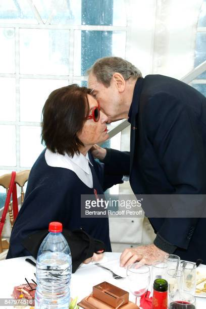 Nana Mouskouri and Robert Hossein attend the Garden Party organized by Bruno Finck companion of JeanClaude Brialy at Chateau De Monthyon on September...