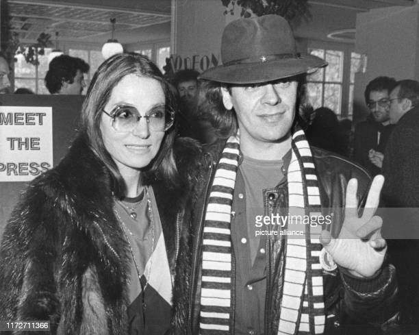 Nana Mouskouri and Udo Lindenberg on 11 January 1983 in Frankfurt.The greek singer and politician was born an 13 October 1934.