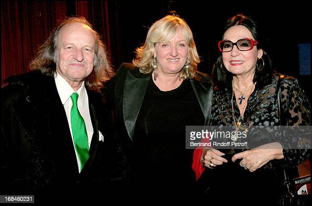 Nana Mouskouri Andre Chapelle and Charlotte De Turckheim at Theatre Production Of Open Bed Playing At Bouffes Parisiens