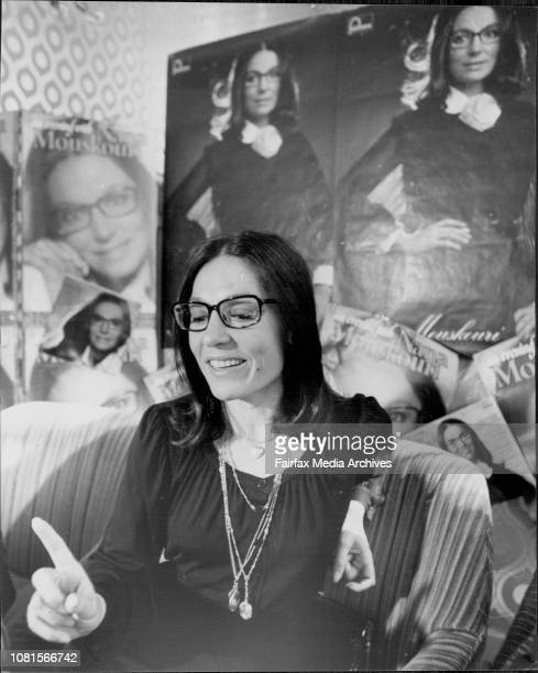 Nana Mouskouri at the Hotel todayGreek singer Nana Mouskouri held a press conference at the Boulevarde Hotel today July 05 1976