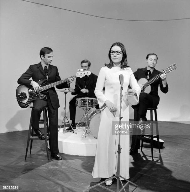 Nana Mouskouri at the time of television programme Paris 1973