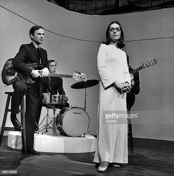 Nana Mouskouri at the time of the television programme Paris 1973