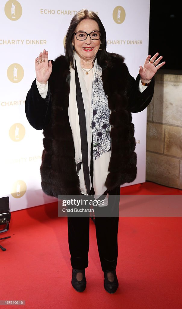 Nana Mouskouri attends the Echo Award 2015 Charity Dinner at Grill Royal on March 25, 2015 in Berlin, Germany.