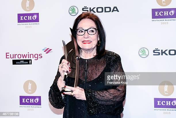 Nana Mouskouri attends the Echo Award 2015 on March 26 2015 in Berlin Germany