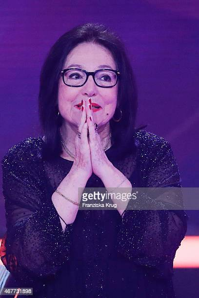 Nana Mouskouri attends the Echo Award 2015 show on March 26 2015 in Berlin Germany