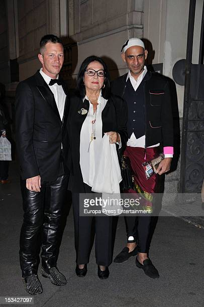 Nana Mouskouri attends the first International retrospective of the French designer at the Mapfre Foundation on October 4 2012 in Madrid Spain
