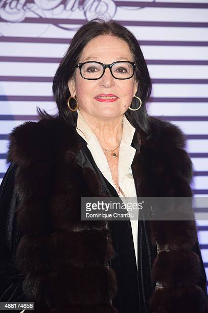 Nana Mouskouri attends the Jean Paul Gaultier Exhibition' Photocall at Grand Palais on March 30 2015 in Paris France
