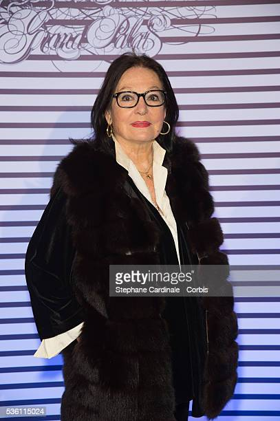Nana Mouskouri attends the 'Jean Paul Gaultier Exhibition' : Photocall - At Grand Palais at Grand Palais on March 30, 2015 in Paris, France.