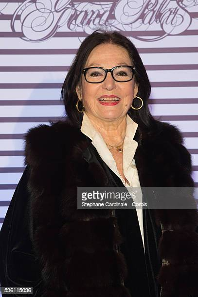 Nana Mouskouri attends the 'Jean Paul Gaultier Exhibition' Photocall At Grand Palais at Grand Palais on March 30 2015 in Paris France
