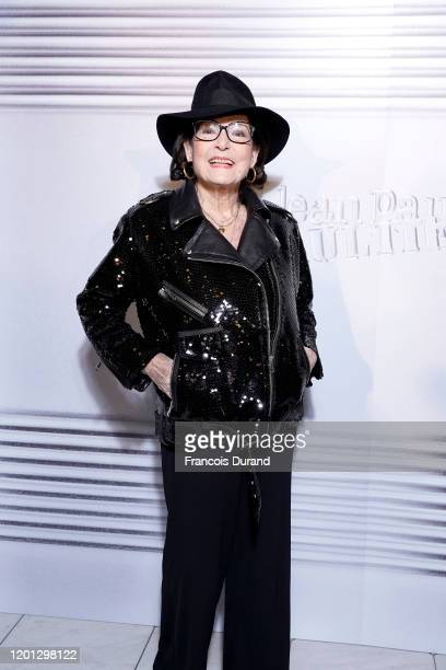 Nana Mouskouri attends the Jean-Paul Gaultier 50th Birthday Cocktail and Party at Theatre du Chatelet on January 22, 2020 in Paris, France.