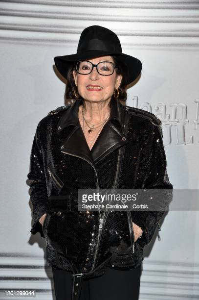 Nana Mouskouri attends the JeanPaul Gaultier Haute Couture Spring/Summer 2020 show as part of Paris Fashion Week at Theatre Du Chatelet on January 22...
