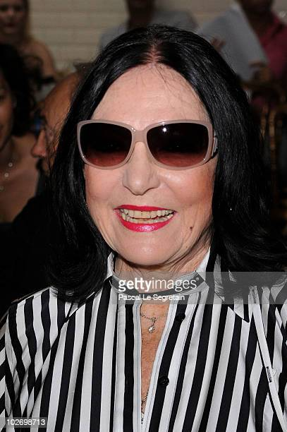 Nana Mouskouri attends the JeanPaul Gaultier show as part of the Paris Haute Couture Fashion Week Fall/Winter 2011 on July 7 2010 in Paris France