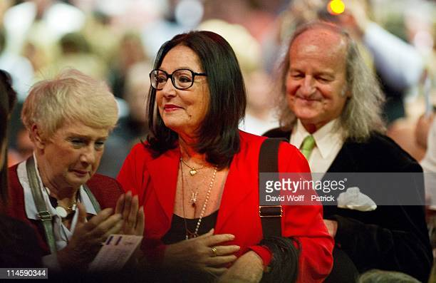 Nana Mouskouri attends the Line Renaud Concert at L'Olympia on May 24, 2011 in Paris, France.