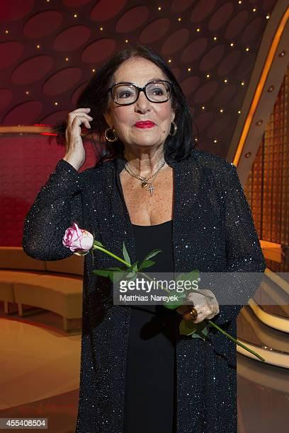 Nana Mouskouri attends the 'Willkommen bei Carmen Nebel' show at Velodrom on September 13, 2014 in Berlin, Germany.