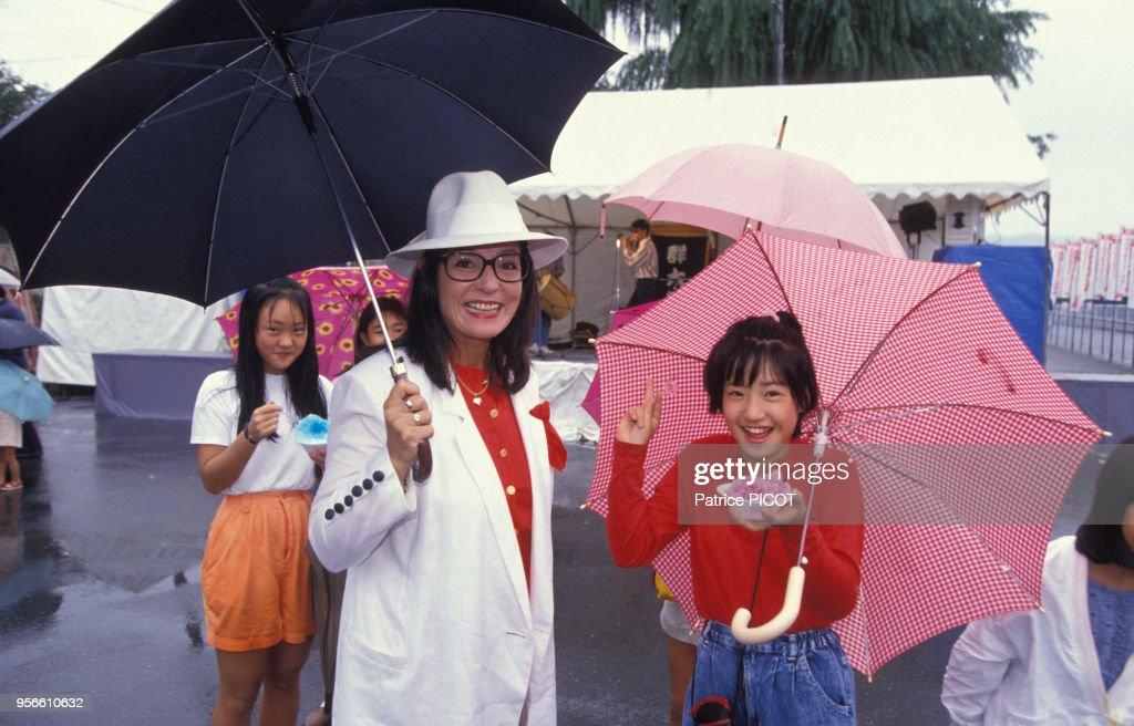 Nana Mouskouri au Japon en 1990 : ニュース写真